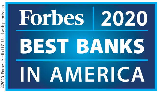 Forbes Best Banks 2020 Logo
