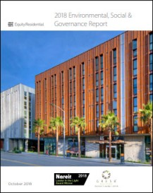 Equity Residential 2018 Corporate Social Responsibility Report
